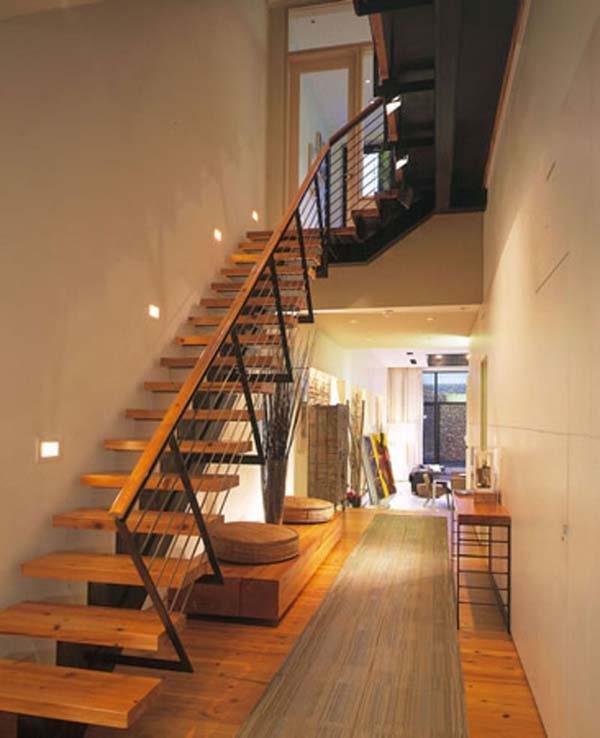Cầu thang dọc nhà ống 4m - 5m