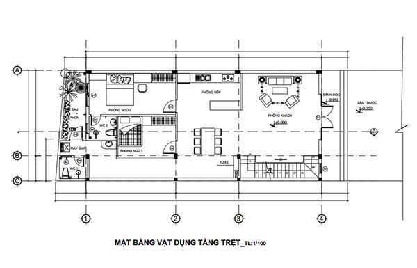 Thiết kế nhà rộng 7m dài 15m