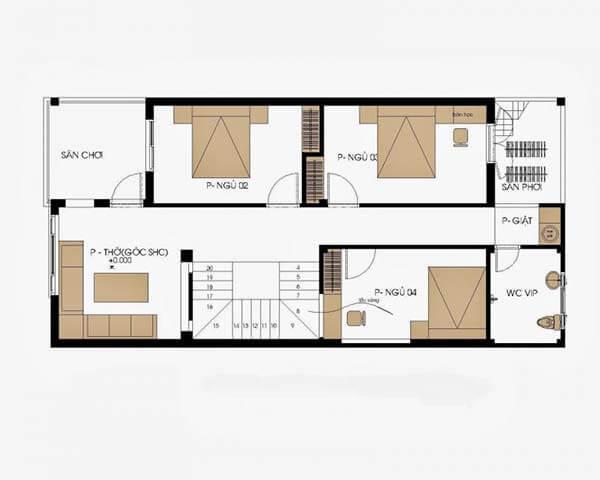 Thiết kế nhà rộng 7m dài 12m