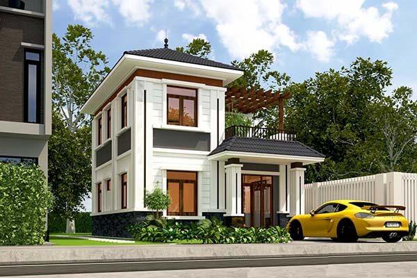 Mẫu nhà 2 tầng 8x10m