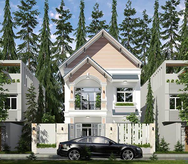 Bản vẽ thiết kế nhà mặt tiền 6m 2 tầng