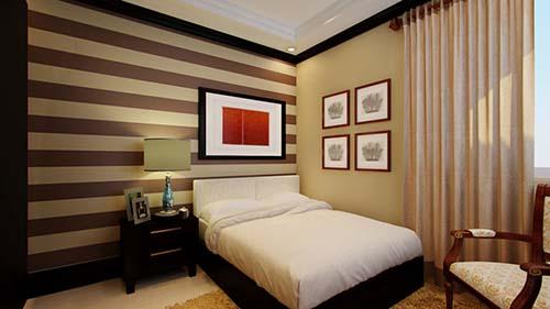 Nội thất nhà cấp 4 chữ L 3 phòng ngủ đẹp