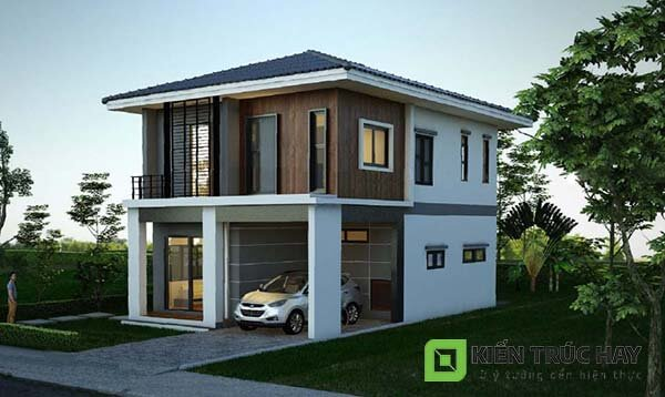 Thiết kế nhà 2 tầng 7x11m