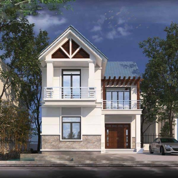 Mẫu thiết kế nhà vuông 9x10 2 tầng
