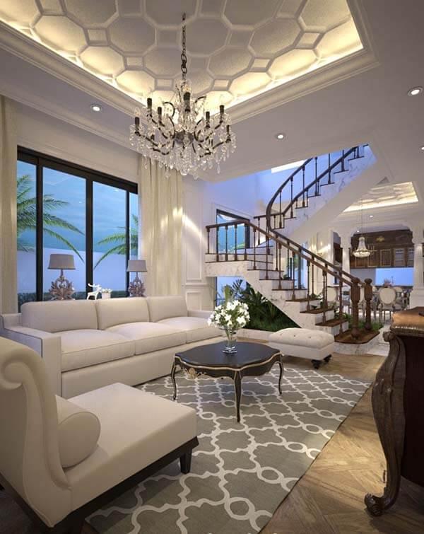 Thiết kế nội thất nhà mặt tiền 8m sâu 15m