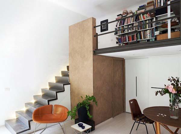 Thiết kế căn hộ 30m2 có gác lửng