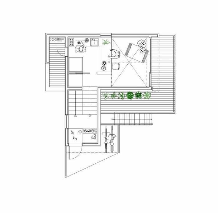 Thiết kế nhà 50m2 2 phòng ngủ