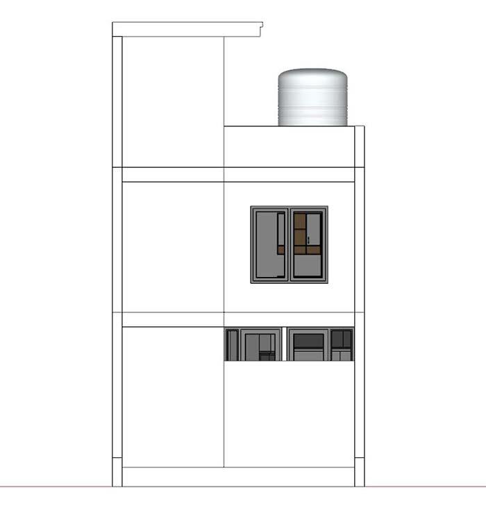 Thiết kế nhà 1 trệt 1 lầu 5x10m