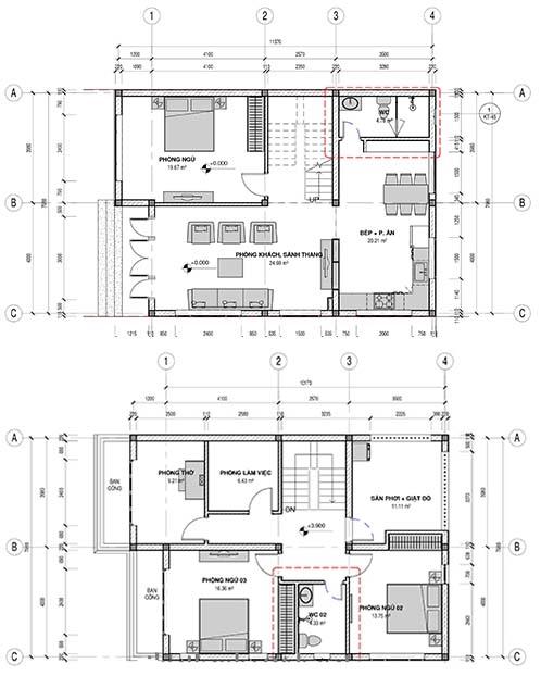 Thiết kế nhà mặt tiền 8m sâu 12m
